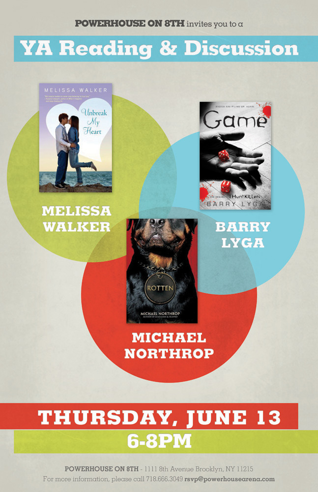 YA Reading & Discussion with Melissa Walker, Barry Lyga and Michael Northrop
