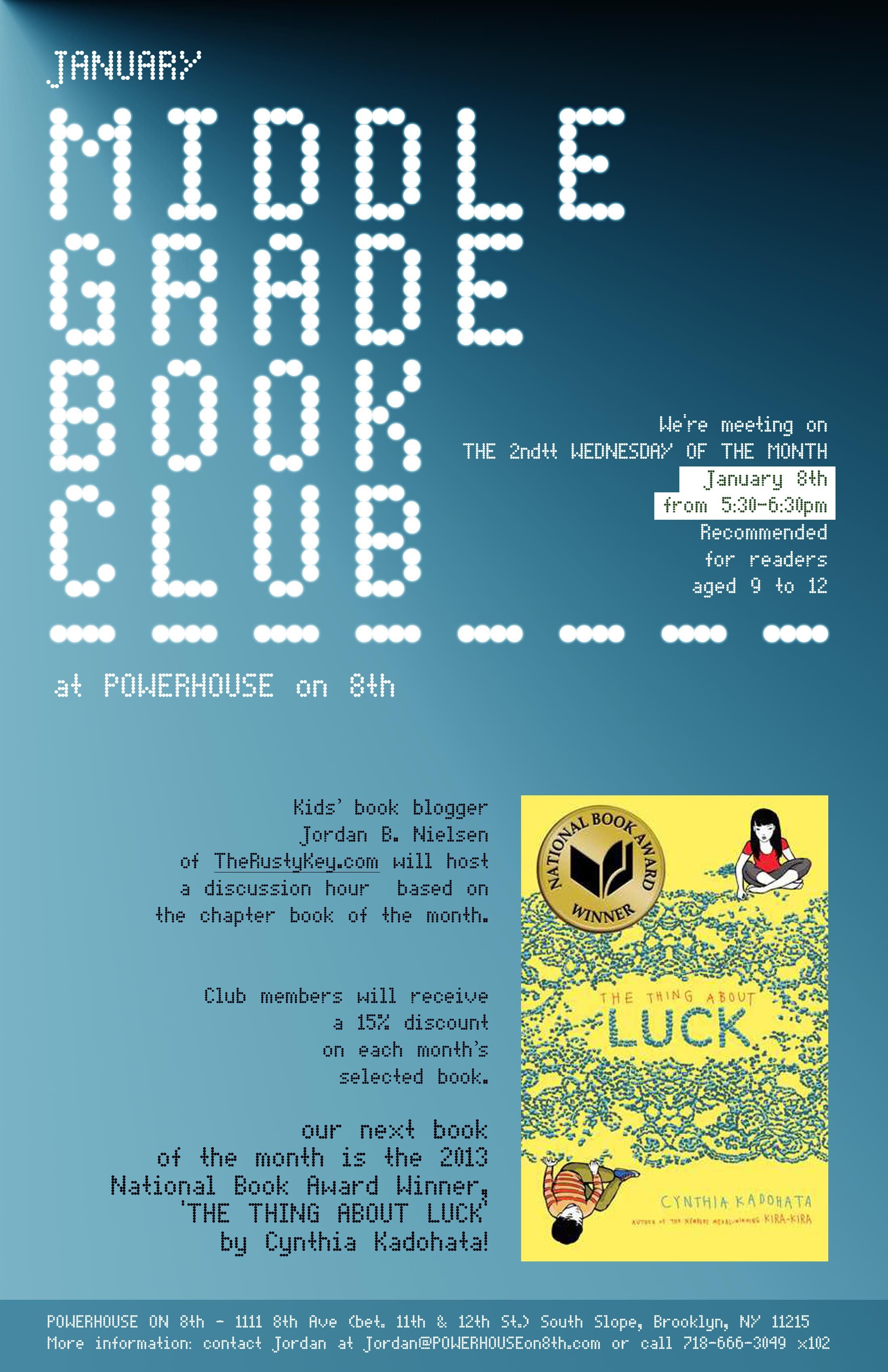 January Middle Grade Book Club: The Thing About Luck by Cynthia Kadohata