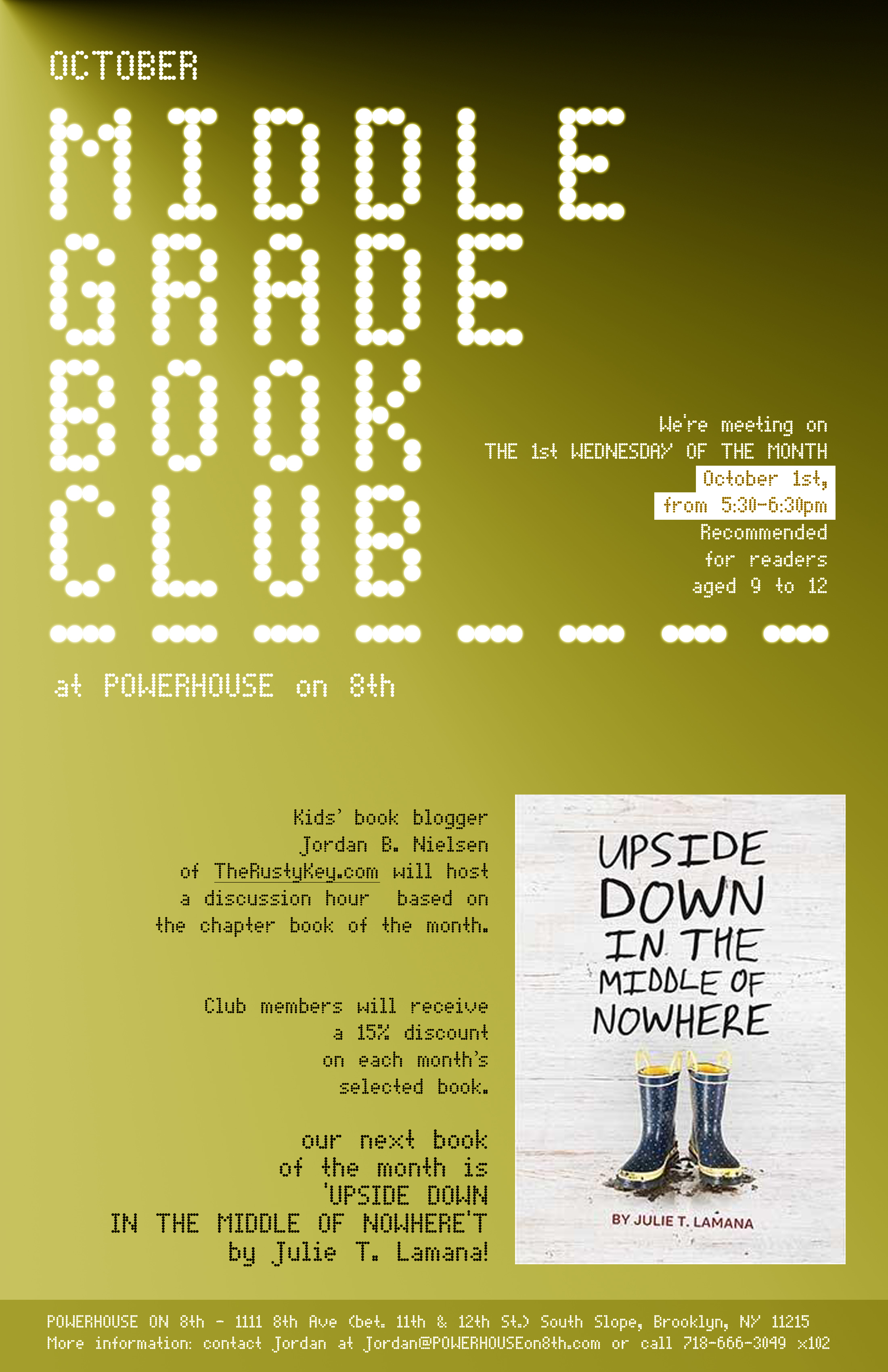 Middle Grade Book Club: Upside Down in the Middle of Nowhere by Julie T. Lamana