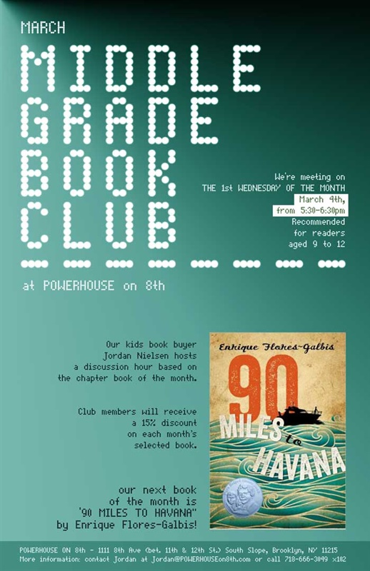 Middle Grade Book Club: 90 Miles to Havana by Enrique Flores-Galbis