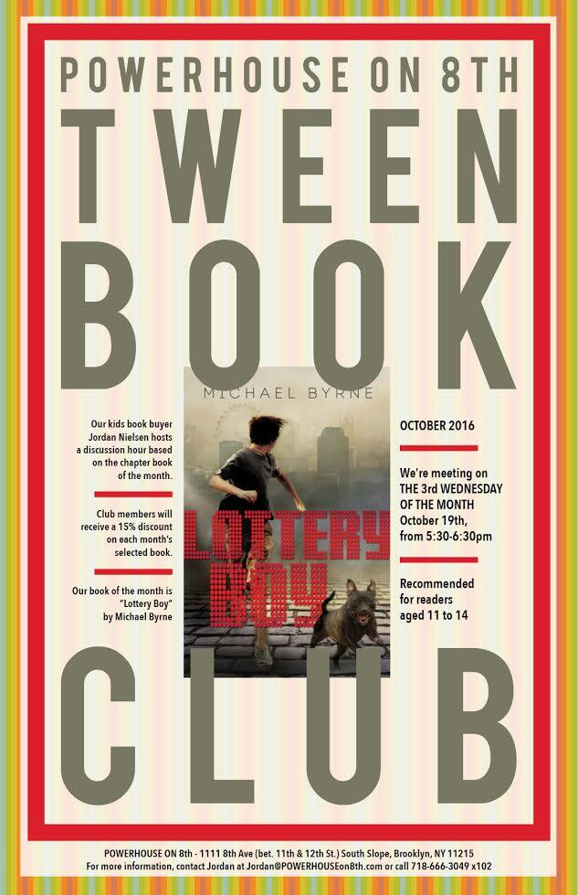Tween Book Club: Lottery Boy by Michael Byrne
