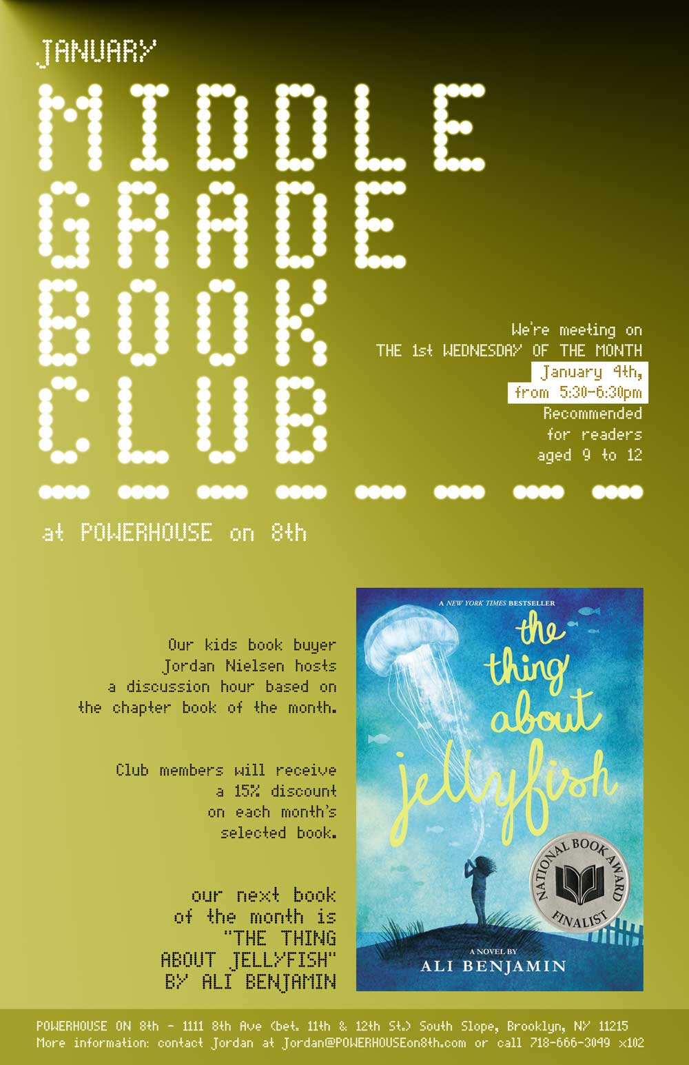 Middle Grade Book Club: The Thing About Jellyfish by Ali Benjamin