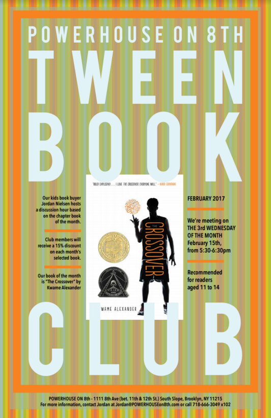Tween Book Club: The Crossover by Kwame Alexander