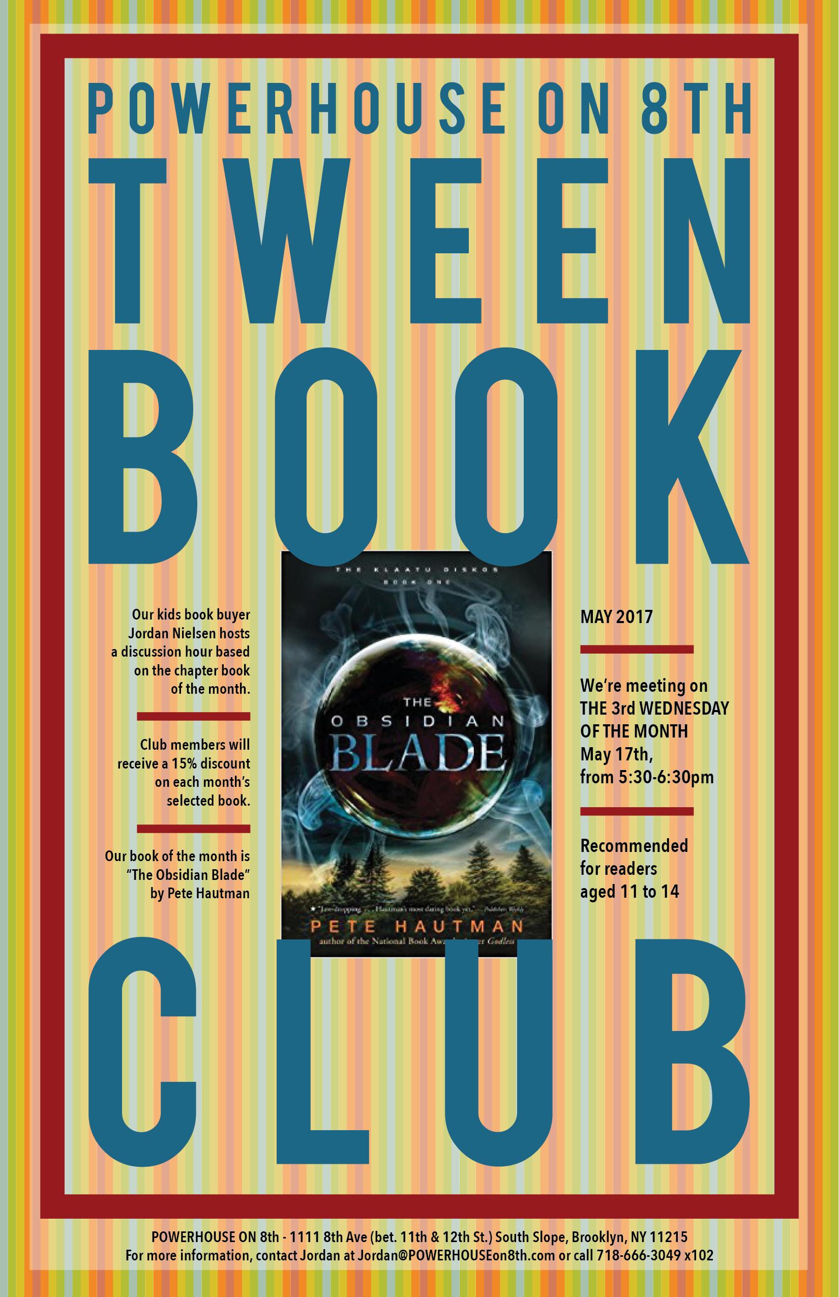 Tween Book Club: The Obsidian Blade by Pete Hautman