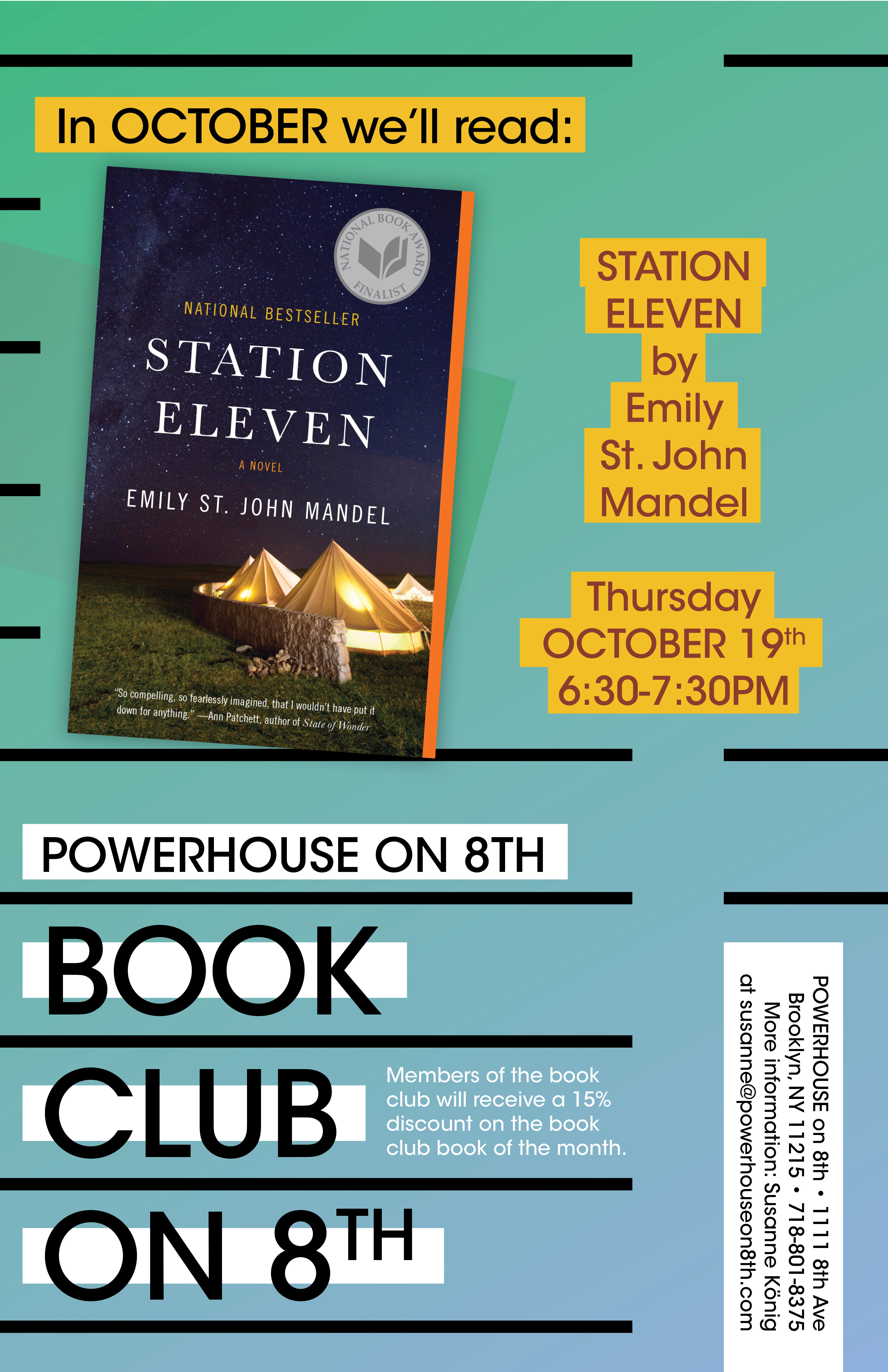 Book Club on 8th: Station Eleven by Emily St. John Mandel